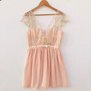 NWT ASOS Flare Mini Dress color Peach